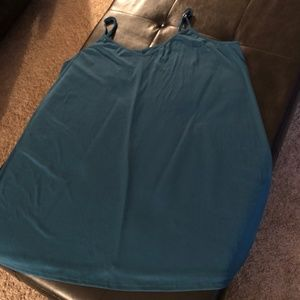 Teal Green Slip Dress - Plus Size